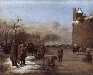 Amusement on the Ice — Адриан ван де Вельде