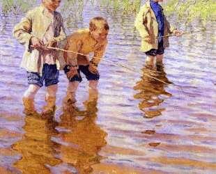 На послеполуденной рыбалке — Николай Богданов-Бельский