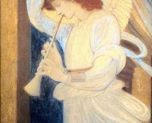 Ангел, играющий на флажолете — Эдвард Бёрн-Джонс