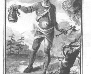 An Indian with a Scalp — Павел Свиньин