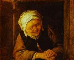 An Old Woman by Window — Адриан ван Остаде