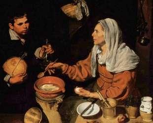 An Old Woman Cooking Eggs — Диего Веласкес