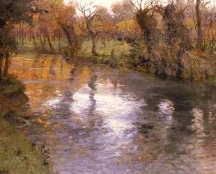 An Orchard on the Banks of a River — Фриц Таулов