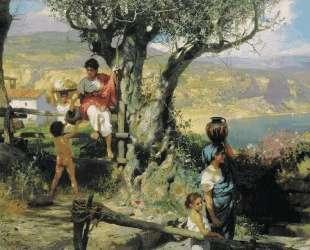 Ancient Rome. In a Village — Генрих Семирадский