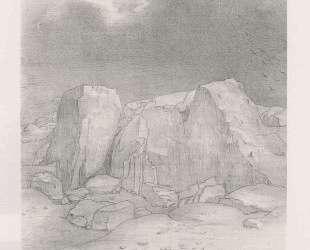 And he discerns an arid, knoll-covered plain (plate 7) — Одилон Редон