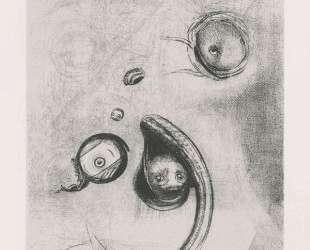 And the eyes without heads were floating like molluscs (plate 13) — Одилон Редон