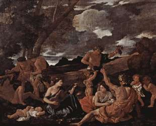 Андрос или Великая Вакханалия с женщиной, играющей на лютне — Николя Пуссен