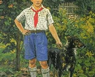 Андрон с собакой — Пётр Кончаловский
