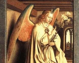 Ангел благовещения (Внешняя сторона левой панели Гентского алтаря) — Ян ван Эйк