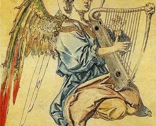 Angel with harp — Ян Матейко