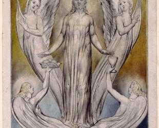 Ангелы прислуживают Христу — Уильям Блейк
