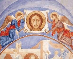 Ангелы с образом Спаса Нерукотворного — Кузьма Петров-Водкин