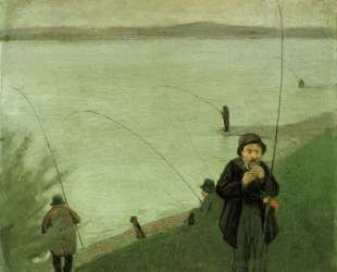 Anglers on the Rhine — Август Маке