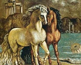 Античные лошади на Эгейском побережье — Джорджо де Кирико