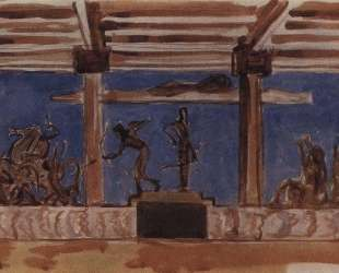 Апполон и Диана, избивающие детей Ниобеи — Валентин Серов