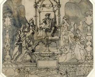 Apollo and the Muses on Parnassus — Ганс Гольбейн Младший