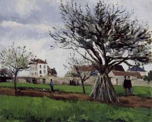 Apple Trees at Pontoise — Камиль Писсарро