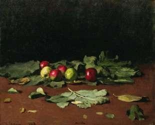 Яблоки и листья — Илья Репин