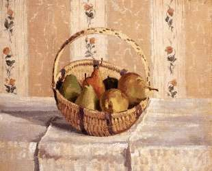 Apples and Pears in a Round Basket — Камиль Писсарро