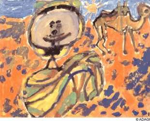 Arab camel saddled — Жан Дюбюффе