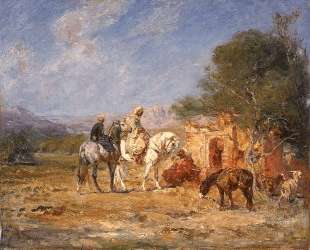 Arab horsemen near the mausoleum — Анри Руссо