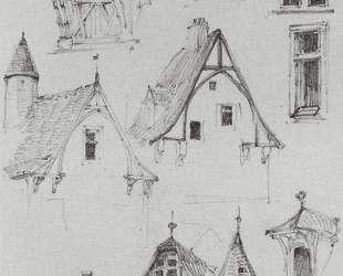 Архитектурные зарисовки. Из путешествия по Германии — Василий Поленов