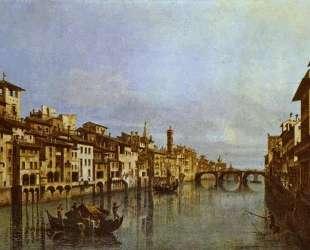 Arno in Florence — Бернардо Беллотто