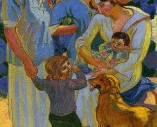 Around a Child with Dog — Морис Дени