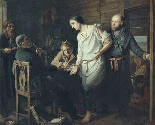 Приезд станового на следствие — Василий Перов