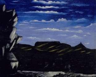 Арсенальская гора ночью — Нико Пиросмани