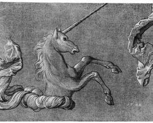 Эскиз единорога — Ханс Бальдунг