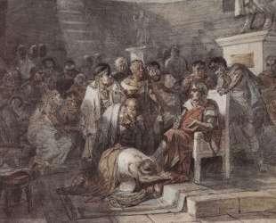 Убийство Юлия Цезаря — Василий Суриков