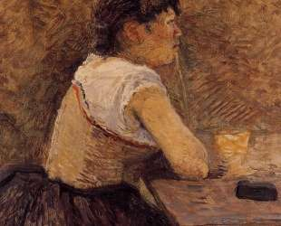 At Gennelle, Absinthe Drinker — Анри де Тулуз-Лотрек
