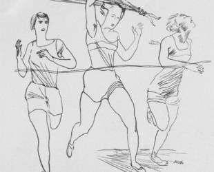 На финише. Оборот обложки журнала «Красная нива» (1928. № 20) — Александр Дейнека