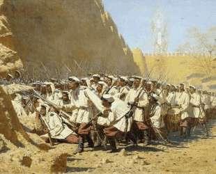 At the Fortress Walls. Let them Enter — Василий Верещагин