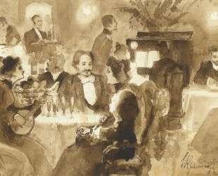 At the restaurant — Иван Крамской