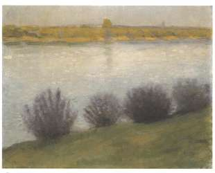 At the Rhine near Hersel — Август Маке