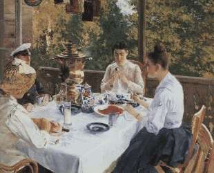 За чайным столом — Константин Коровин