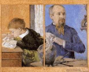 Скульптор Обе и его сын — Поль Гоген