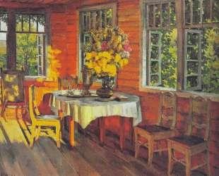 August Evening. Last Ray. Ligachevo — Константин Юон
