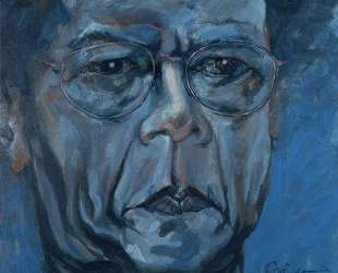 Auto retrato en azul (self portrait in blue) — Рамон Овьедо