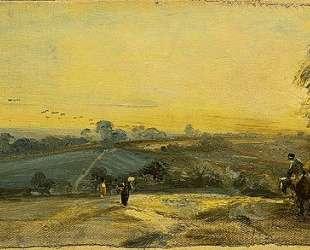 Осенний закат — Джон Констебл