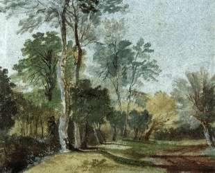 Дорога в сельской местности — Антонис ван Дейк