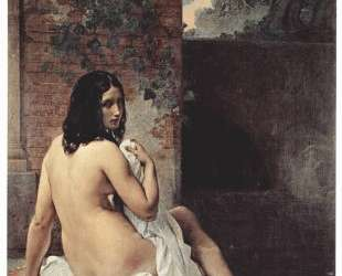 Back view of a bather — Франческо Хайес