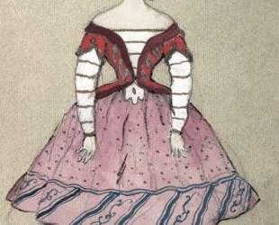 Балеринa. Эскиз костюма Т. П. Карсавиной — Александр Бенуа