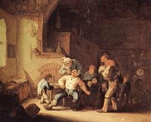 Barber Extracting of Tooth — Адриан ван Остаде