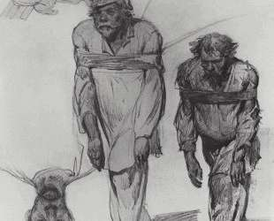 Бурлаки, тянущие лямку — Илья Репин
