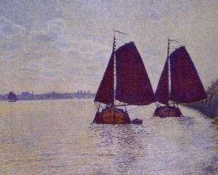 Barges on the River Scheldt — Тео ван Рейссельберге