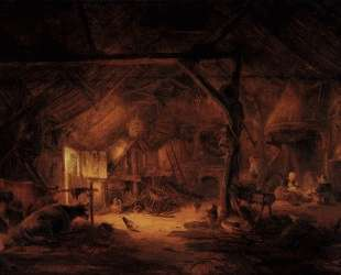 Barn Interior — Исаак ван Остаде