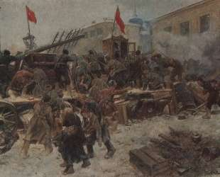 Barricade fighting in Red Presnya — Иван Владимиров